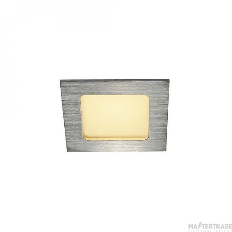 SLV 112726 FRAME BASIC LED SET, downlight , alu brushed, 6W, 3000K, incl. driver