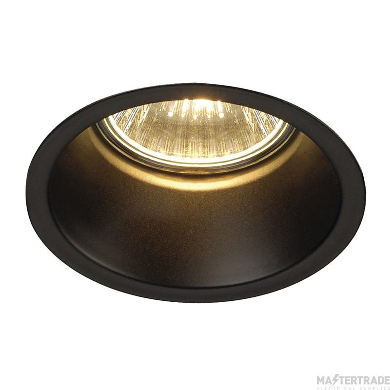 SLV 112910 HORN GU10 downlight, round, matt black, max. 50W