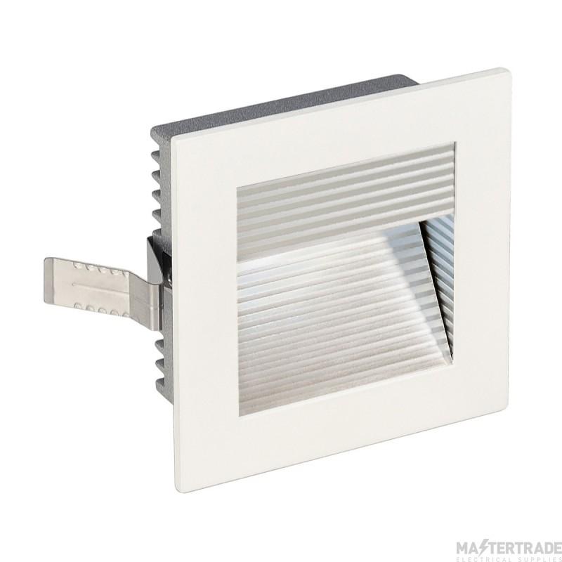 SLV 113290 FRAME CURVE LED recessed light , square, matt white, white LED
