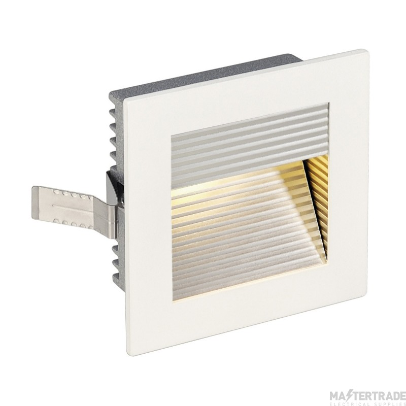 Intalite 113292 FRAME CURVE LED recessed light , square, matt white, warm white LED