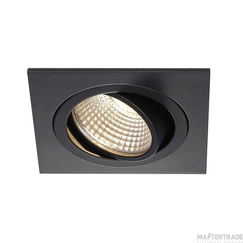 SLV 113910 NEW TRIA DL SQUARE SET, downlight, matt black, 6W, 38? , 3000K, incl. driver,