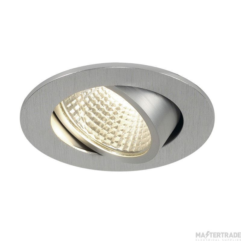 SLV 113956 NEW TRIA LED 3W DL ROUND SET, downlight, alu brushed, 38?, 3000K, incl. driver, springs