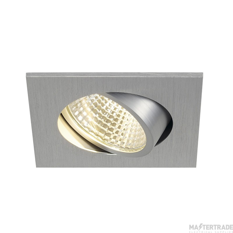 SLV 113966 NEW TRIA LED 3W DL SQUARE SET, downlight, alu brushed, 38?, 3000K, incl. driver, springs