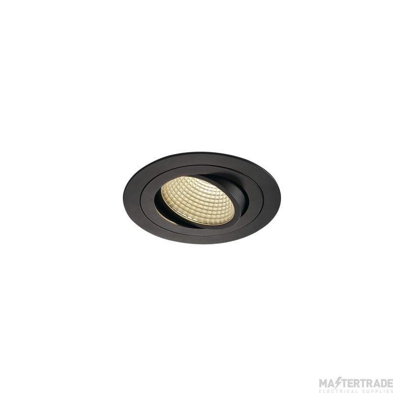 SLV 114230 NEW TRIA LED DL ROUND SET, matt black, 12W, 38?, 3000K, incl. driver, clip springs