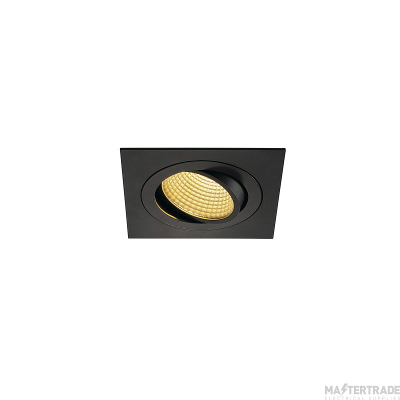 SLV 114240 NEW TRIA LED DL SQUARE SET, matt black, 12W, 38?, 2700K, incl. driver, clip springs