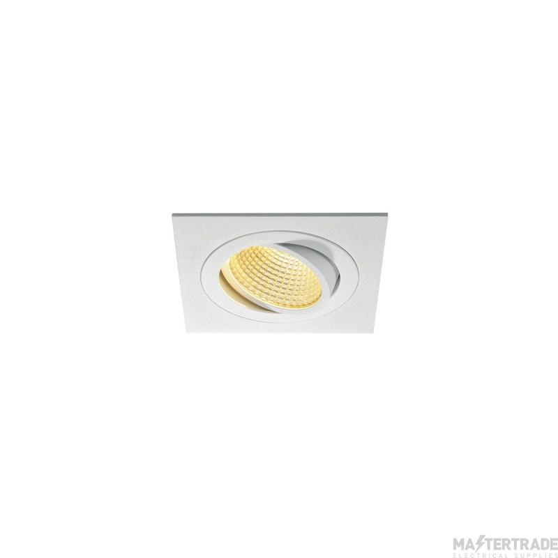 SLV 114241 NEW TRIA LED DL SQUARE SET, matt white, 12W, 38?, 2700K, incl. driver, clip springs