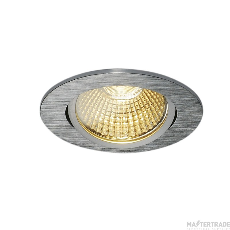 SLV 114386 NEW TRIA 68 LED DL ROUND SET, alu brushed, 9W, 38?, 3000K, incl. driver