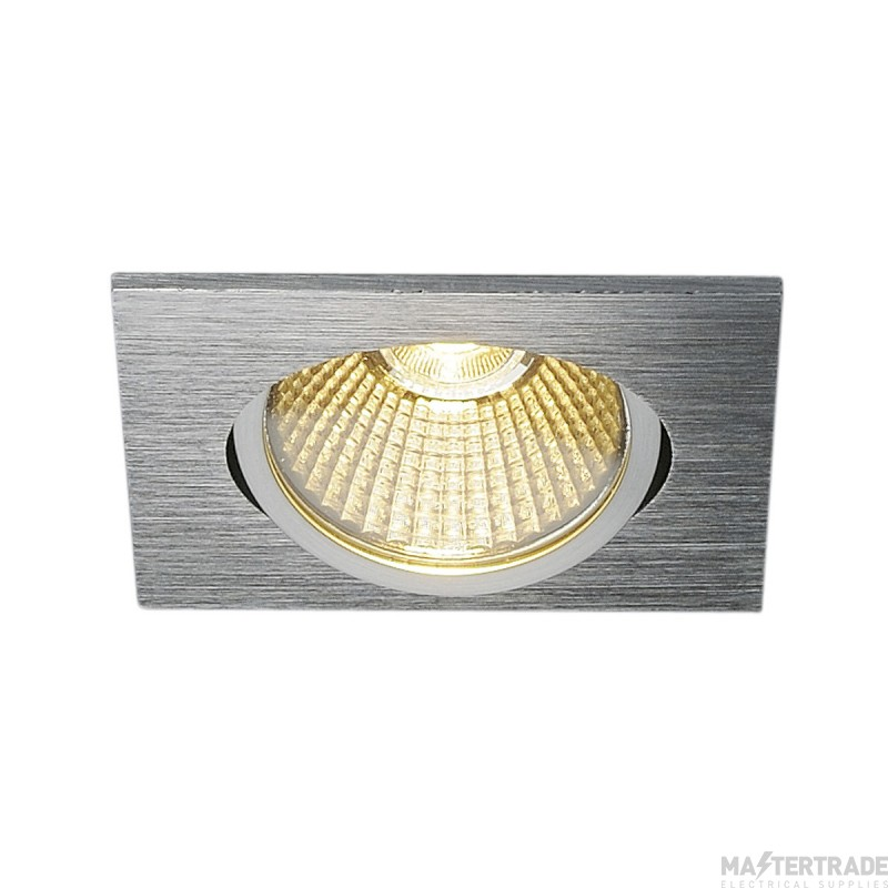 SLV 114396 NEW TRIA 68 LED DL SQUARE SET, alu brushed, 9W, 38?, 3000K, incl. driver