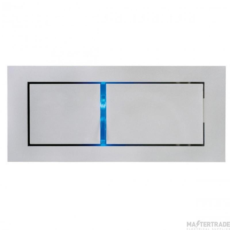 SLV 146242 BEDSIDE LEFT recessed wall light, silver-grey, 3W LED, 3000K, blue orientation LED