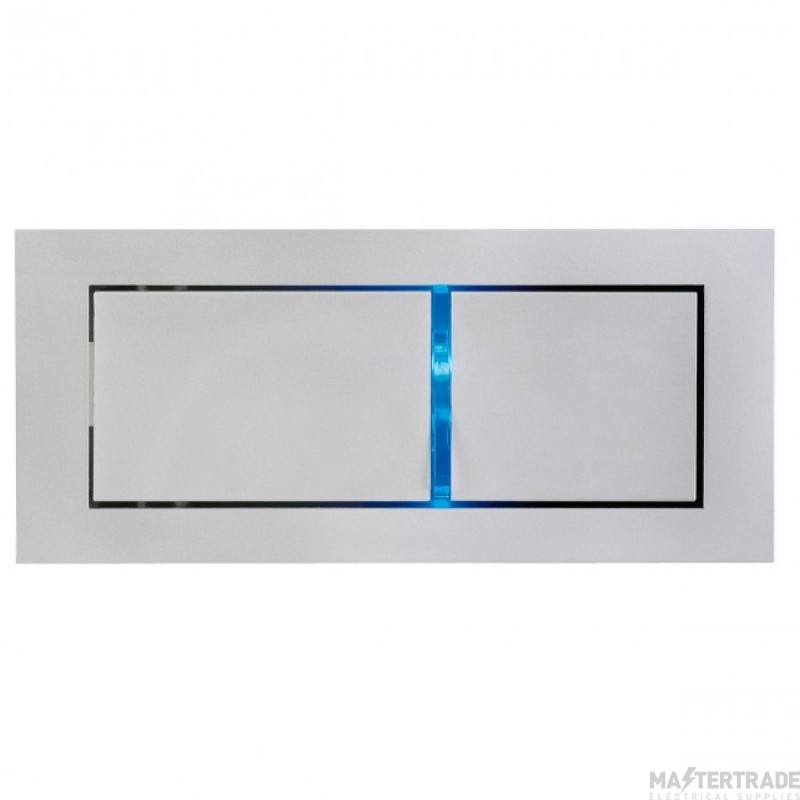 SLV 146252 BEDSIDE RIGHT recessed wall light, silver-grey, 3W LED, 3000K, blue orientation LED