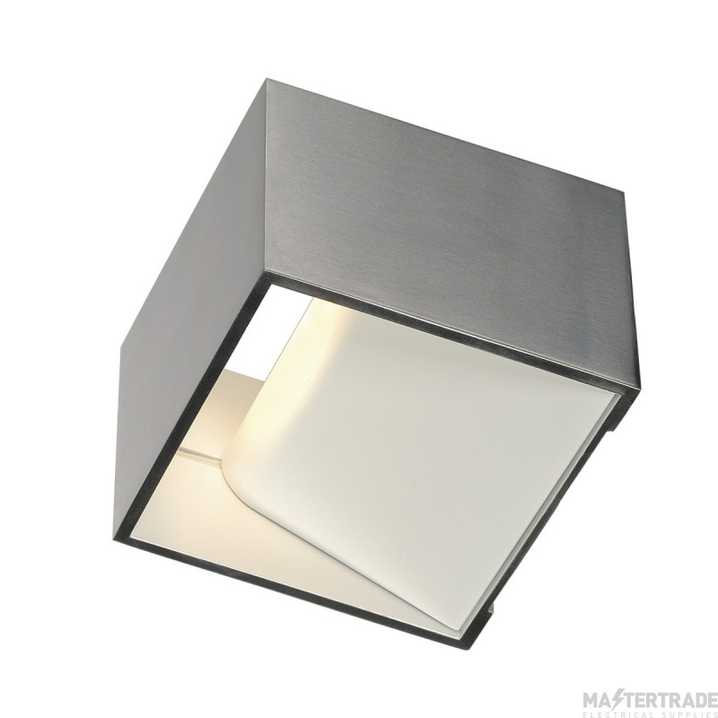 SLV 151325 LOGS IN wall light, square, alu brushed, 5W LED, 3000K