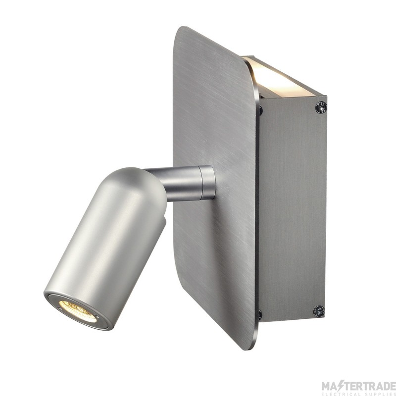 SLV 155104 NAPIA wall light, 2x 1W LED, 3000K, alu brushed, incl. driver and switch