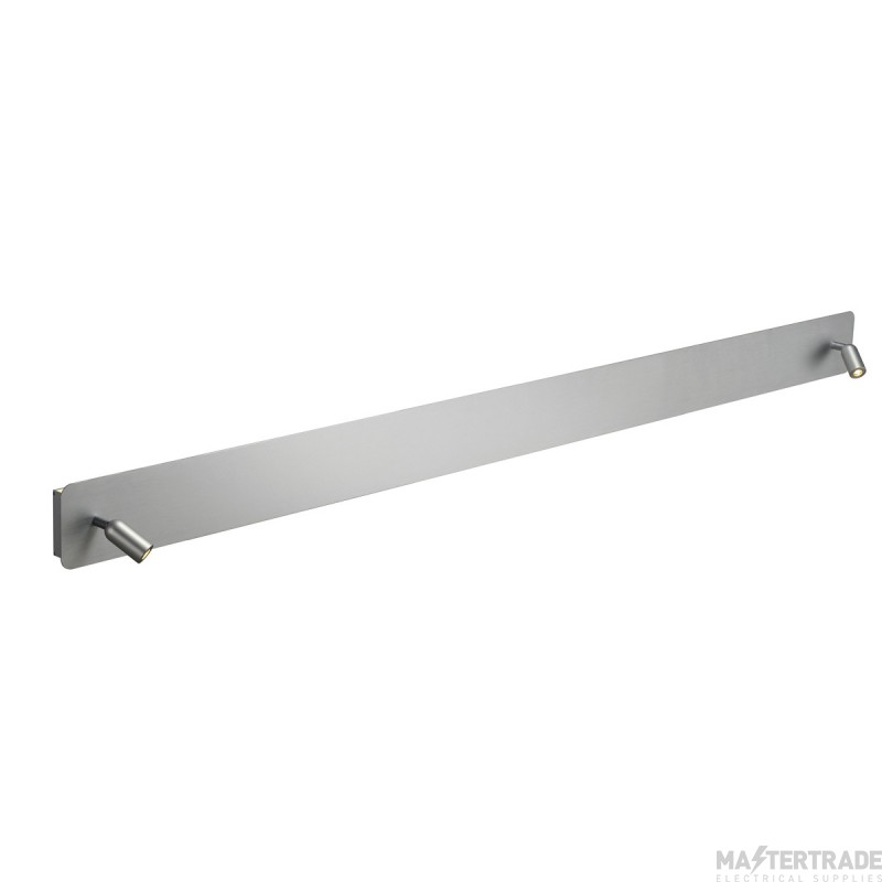 SLV 155114 NAPIA TWIN wall light, side spots and uplight, alu brushed , 3000K LED