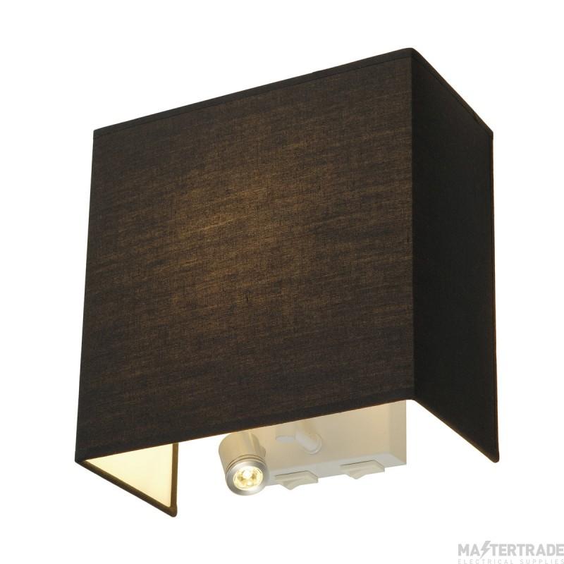 SLV 155670 ACCANTO LEDSPOT wall light, black, E27, max. 24W, incl. LED spot, 1W, 3000K
