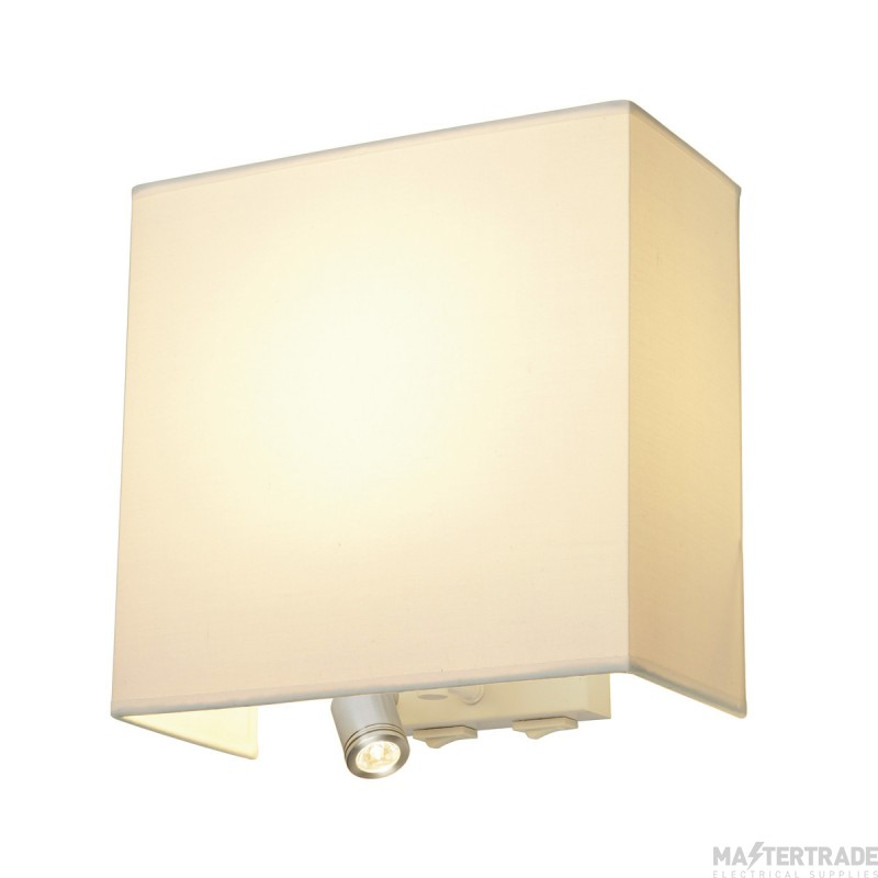 SLV 155673 ACCANTO LEDSPOT wall light, white, E27, max. 24W, incl. LED spot, 1W, 3000K