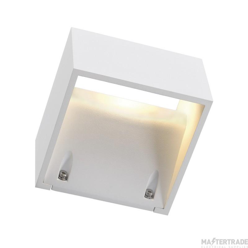 SLV 232101 LOGS WALL LIGHT, square, white , 6W LED, 3000K, IP44