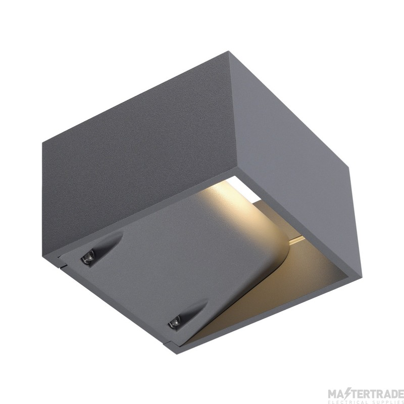SLV 232104 LOGS WALL LIGHT, square, silver-grey, 6W LED, 3000K, IP44