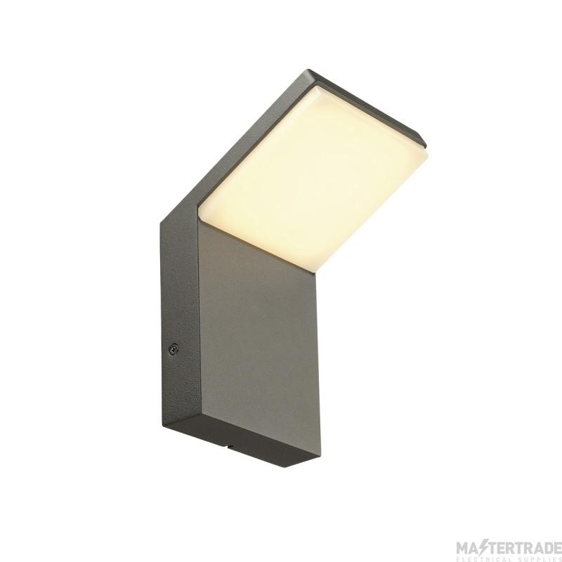 SLV ORDI LED wall light, anthracite, SMD LED, 3000K, IP44