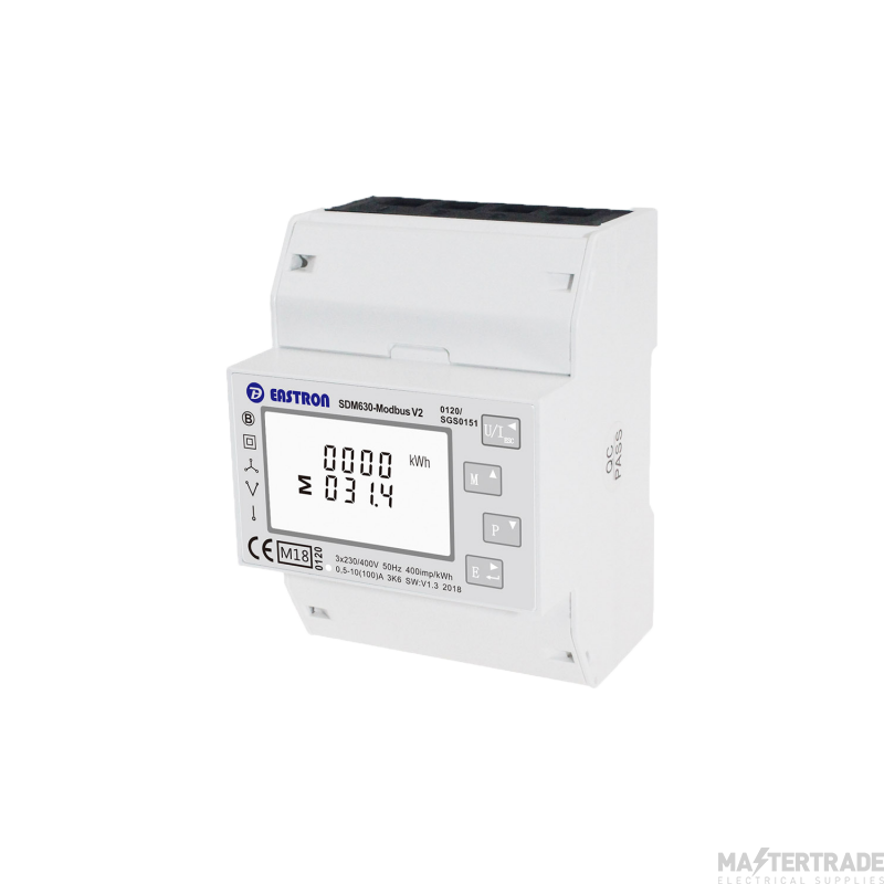 Single/Three Phase, MID,  100A, Direct Connected, Multifunction, Dinrail Meter