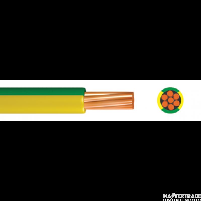 Single Core Low Smoke Zero Halogen Conduit Cable 2.5mmSQ 6491B Green/Yellow 100M