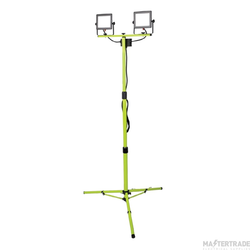 Luceco Eco Slimline Tripod Work Lights Twin 2 X 20W EFLDTT20B50