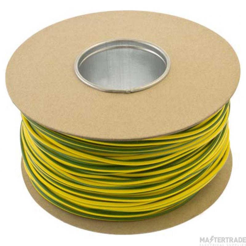Unicrimp 100m x 3mm PVC Earth Sleeving - Green/Yellow