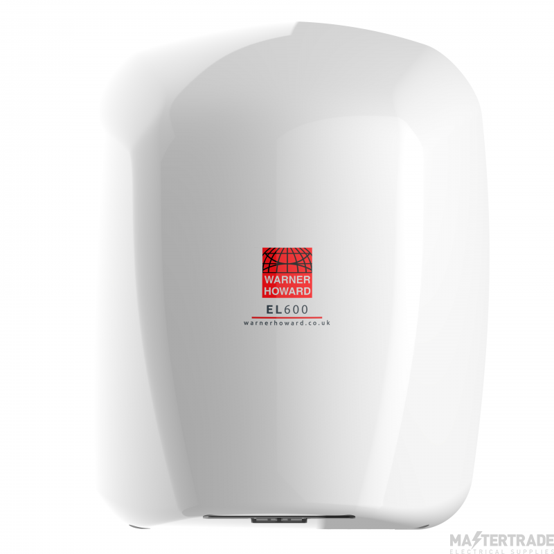 Warner 091183 EL600 Hand Dryer 600W Whi