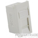 100-700 Excel Category 5e (UTP) Unscreened Euromod RJ45 Module - White