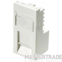 100-760 Excel Category 5e (UTP) Unscreened Low Profile Euromod RJ45 Module - White