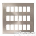 Click Deco Satin Chrome 18 Gang Grid Pro Front Plate VPSC20518