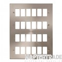 Click Deco Satin Chrome 24 Gang Grid Pro Front Plate VPSC20524