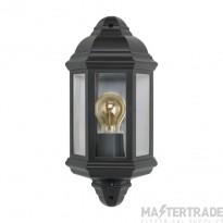 BELL Vintage Half Lantern & PIR Black - ES/E27 Lamp Base 10361