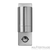 BELL 10420 Luna GU10 PIR Wall Light - Fixed Single, Stainless Steel, IP54