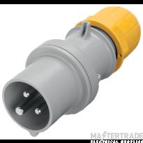 Scame 213.3230 Plug 2P+E 32A Yellow