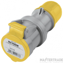 Scame 2P+E 16A Yellow IP44 Industrial Connector 313.1640