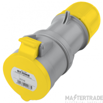 Scame 2P+E 32A Yellow IP67 Industrial Connector 313.3240
