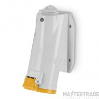 Scame 513.3250 IP44 Angled Industrial Socket 2P+E 32A Yellow