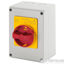 Scame 590.EM4015 Rotary Isolator TP+N Enclosed 40A