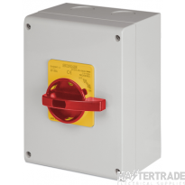 Scame 590.EM6305 Rotary Isolator TP+N Enclosed 63A