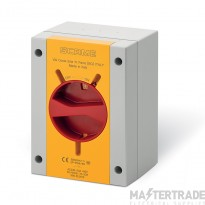 Scame 590.EM3215 Rotary Isolator TP+N Enclosed 32A