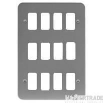 Crabtree Rockergrid Birch Grey Frontplate 12 Gang Rockergrid Surface 6580/BG