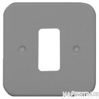Crabtree Rockergrid Birch Grey Frontplate 1 Gang Rockergrid Surface 6581/BG