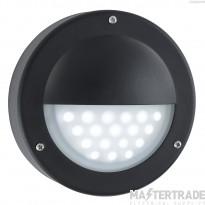 Searchlight 8744BK LED Black Outside Wall Light, IP44