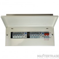 Hager 5+5 Way Split Load Consumer Unit With 8 x MCBs VML955H+MCB