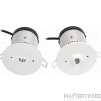 NVC Dalton NDT3/OVAL/NM3 LED Emergency Recessed Downlight 3hrNM Oval 3W
