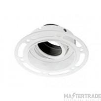ALL LED ADLT001BB/MW Trimless Plaster-In GU10 Downlight c/w Black Baffle Matt White 85x120x54mm