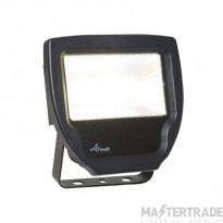 Ansell Calinor LED Polycarbonate Floodlight Warm White 20W Black