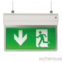 Ansell AE3LED/3M/W/ST LED Emergency Hanging Exit Blade 2.5W