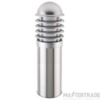 Ansell Round E27 Stainless Steel Louvred Bollard E27 450mm AME27045/SS