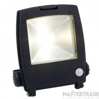 Ansell AMLED30/PIR Mira Die-Cast 30W LED Floodlight 4750K 2816lm c/w PIR
